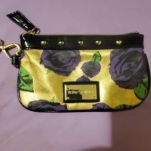 $5 w betsey johnson Wristlet bag great condition